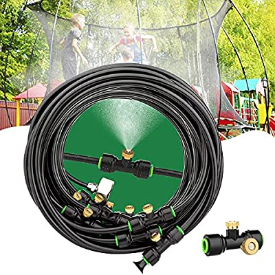 Aimego Outdoor Misting Cooling System, Outdoor Misters for Outside Patio - Water Misters for Cooling Porch Garden Yard Trampoline Backyard