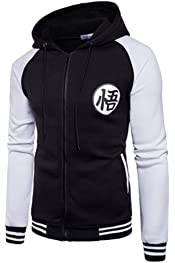 PIZZ ANNU Mens Zipper Sweatshirt Cotton Blend Hoodie Patchwork Sport Outwear