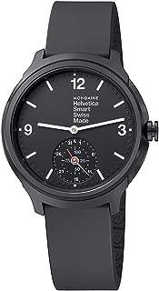Mondaine Men's Helvetica Stainless Steel Quartz Watch with Rubber Strap, Black, 20 (Model: MH1B2S20RB)