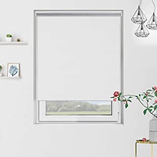 Grandekor Blackout Roller Blinds and Shades for Window Indoor Use with Cordless Spring System, Room Darkening, 31 inch x 72 inch, White