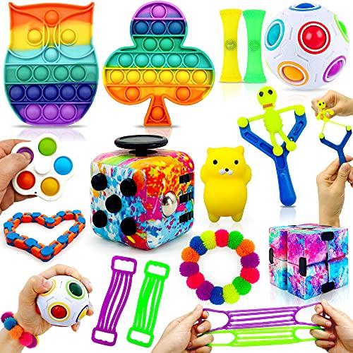 MarckersHome Ensemble de jouets agités Pack de jouets agités con Cube Infini...