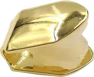 MachinYesell Plaine Hip Hop Tooth Single Gold Color Dents Rapper Caps Dents sup/érieure et inf/érieure Couleur: Or