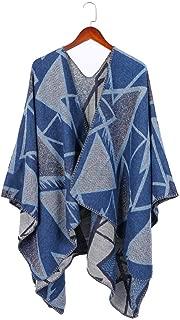 Women Winter Warm Cardigan Poncho Cape Wraps Scarves