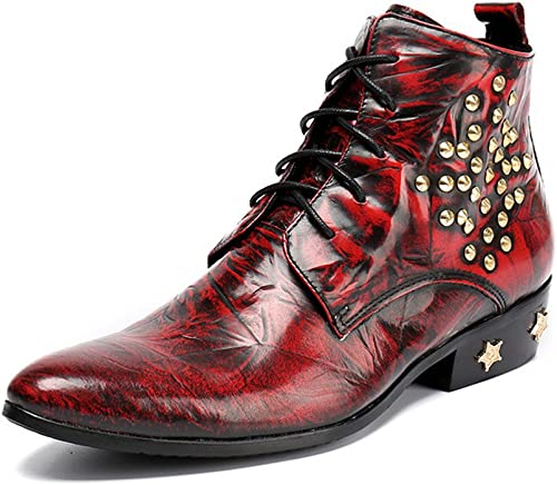 QARYYQ Herbst Und Winter Herren Stiefel Stiefel Herren Martin Stiefel Kurze Stiefel Spitzen Business Hohe Schuhe Schuhe Koreanische Version Plus Samt Warm Herren Lederstiefel