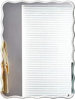 Bathroom mirror Espejo de baño Espejo de Pared sin Marco Simple Espejo de tocador Ondulado Espejo de tocador Impermeable Espejo de Belleza (Tamaño : 50 * 70cm)