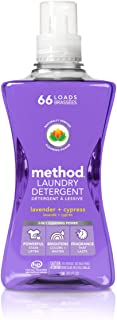 Method Concentrated Laundry Detergent, Lavender + Cypress, 53.5 Fl Oz (1 Count), 66 Loads