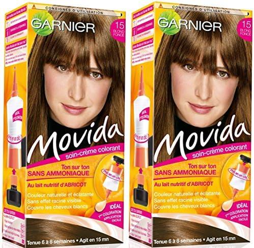 Garnier – Coloración temporal Movida sin amoniaco, 15 rubio oscuro, lote de 2