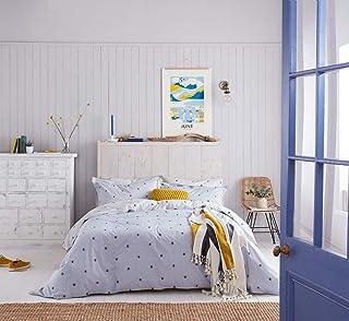 Colore: Blu Joules Botanical Bee Blue Copripiumino Doppio