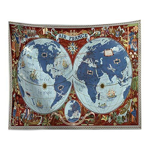Broadwage Weltkarte 5 Größen im Antiken Stil Kunstdruck Karte Wandbilder - World map Poster Edle Wanddekoration Kopfteil Deco Tapisserie Sofa Staubschutzhülle Wandtattoos Drucken Leinwanddrucke