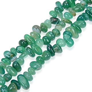Natural Gemstone Smooth Chips Stone Beads for Earrings Bracelet Necklace Charm Keychain Anklet Jewelry Craft Making Green