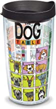 Tervis Insulated Tumbler with Wrap and Black Lid, 16oz, Clear