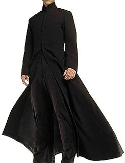 Neo Matrix Heavy Duty Cotton Keanu Reeves Black Gothic Cosplay Trench Coat