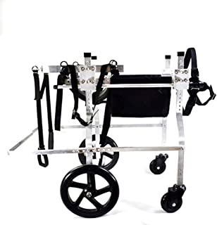 Dog Pet Wheelchair, Rear Support Wheelchair, Adjustable Stainless Steel Cart Pet/Cat Dog..