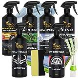 Kit de nettoyage pour voiture 11 pièces sans eau King of Sheen, pour nettoyer votre véhicule entier dans une salle d'exposition Standard.