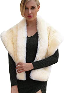 Clearance On Sale Litetao Faux Fur Scarf for Women Long Soft Scarves Wrap Collar Shawl for Evening Party Show