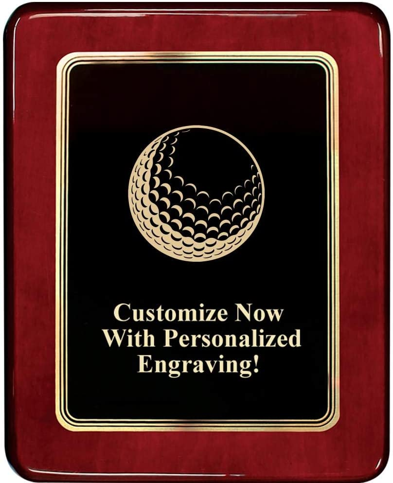 Crown Awards Golf Ball Plaques Chatoyant 8x10 40% OFF Cheap Sale Plaque Rosewood G Max 89% OFF