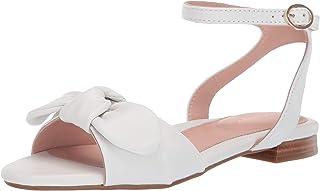 Taryn Rose Women's Vivian Flat Sandal, white, 7 M M US