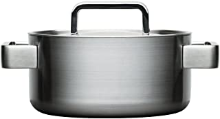 Iittala Tools Casserole Pot with Lid Pot, Polished Stainless Steel, Silver, 2 L, 1010457