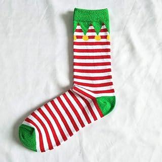 calcetín Nuevos Hombres Calcetines Calcetines tridimensionales Algodón Suave Calcetines Lindos de Ciervos de Santa Calcetines Unisex de Navidad