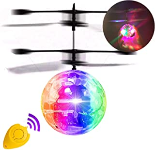 Camlinbo Flying Ball, Kids Flying Toys Hand Control Helicopter Mini Infrared Induction Drone Magic RC Flying Light Up Novelty Toys Indoor Outdoor Play Birthday Gifts for Kids Boys Girls