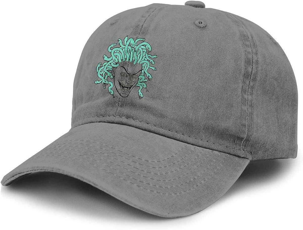 TZT Medusa Greek Myth Creature Cowboy Hat Sports Baseball Cap Adjustable Hat Unisex Deep Heather