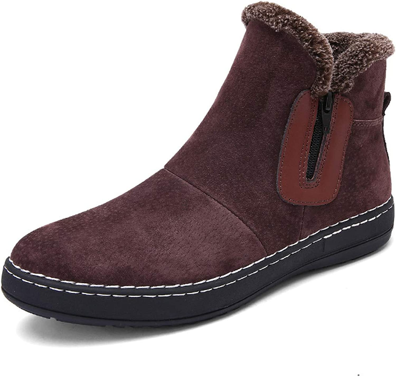 Men Snow Boots Winter Warm Anti-Slip shoes High Top Zipper Boots British Style Chelsea shoes
