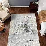 """jinchan Retro Area Rug for Kitchen Tile Design Elegant Floral Floorcover Indoor Soft Mat for Bedroom Living Room Taupe 3'x 5'3"""""""