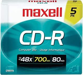 Maxell 648220 700MB 80-Minute Cd-RS (5 Pk) Consumer Electronic