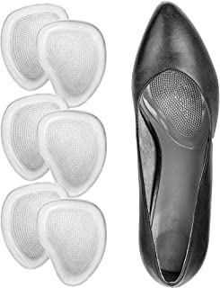 High Heel Cushion Insert for Women, Metatarsal Pad, Ball of Foot Cushions, Forefoot Pad, All Day Pain Relief, Anti-Slip Soft Forefoot Shoe Insole, One Size fits All, 3 Pairs - Multicolor