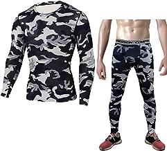 طقم ملابس رياضية ضيقة للرجال من 1Best، تمرين الجري، أكمام طويلة، مجموعة من السراويل