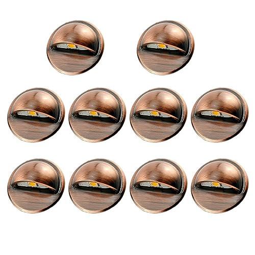 FVTLED Pack of 10 Low Voltage LED Deck lights kit Φ1.38
