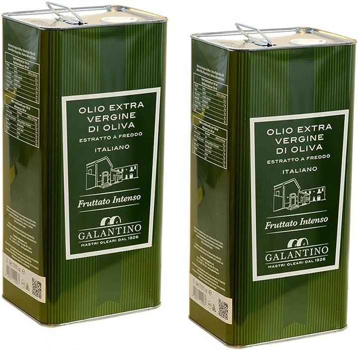 Olio extra vergine di oliva fruttato intenso 5 litri x 2  frantoio galantino B07RJJ2QV7