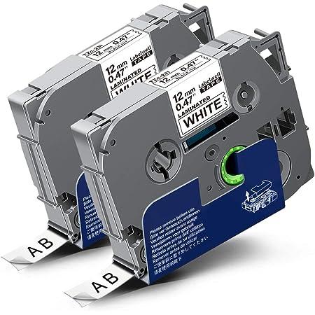 GL-100 H100 vhbw Kassette Patronen Schriftband 12mm blau passend f/ür Brother P-Touch 9800PCN D200VP H105 E300 TZE-535 D200 H300 wie TZ-535