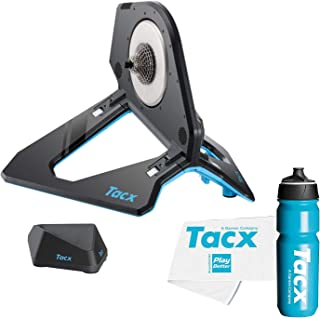 TacX NEO 2T Smart Bike Trainer Bundle with TacX/PlayBetter Premium 750ml Cycling Water Bottle & Large Trainer Towel | Pedal Stroke Analysis & Road Feel | Indoor Bike Training