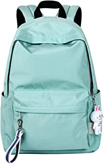 Adanina Pure Color College Backpack Outdoor Travel Bag Middle Schoolbag Students Book Bag for Teens Girls Boys