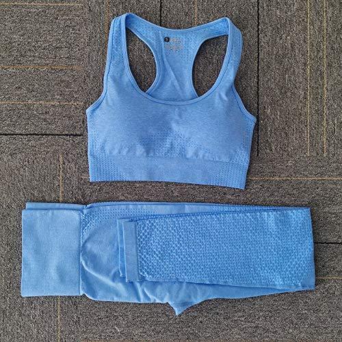 Opprxg Sin Costuras Yoga Damas Fitness Ropa Deportiva Gimnasio Ropa Deportiva Camisa de Cintura Alta Corriendo niñas Leggings Fitness Pantalones Mujeres