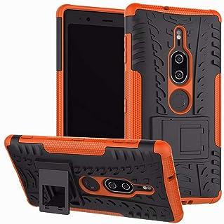 """頑丈なハイブリッドタフで頑丈な2層装甲ハードPCおよびソフトTPU衝撃保護2 in 1のキックスタンドカバー Sony Xperia 5(6.1"""")"""