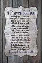 Dexsa A Prayer for You.New Horizons Wood Plaque