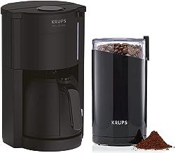Krups Pro Aroma filterkaffemaskin med termokanna och kaffekvarn, droppfunktion, 800 watt, upp till 10 koppar, uppvärmnings...