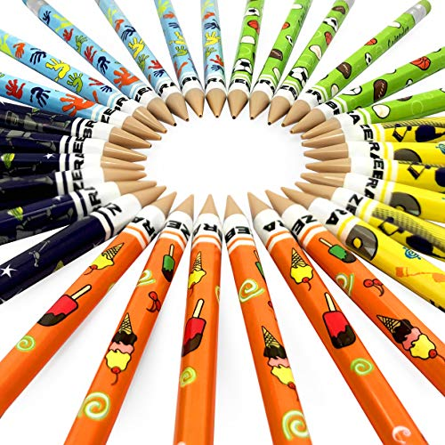 Zebra Funky Cadoozles Mechanical Pencils - 0.7mm Lead - Economy Pack of 30 - Assorted Barrel Colours