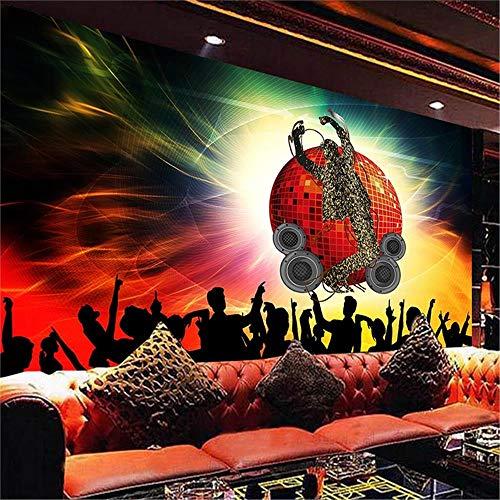 PSiFound® 3D Desmontable Pegatinas De Pared Etiqueta De La Pared Cantante Concierto Color Iluminación (350X256Cm) Bebé Niños Hogar Infantiles Dormitorio Vivero Diy Decorativas Arte Murales