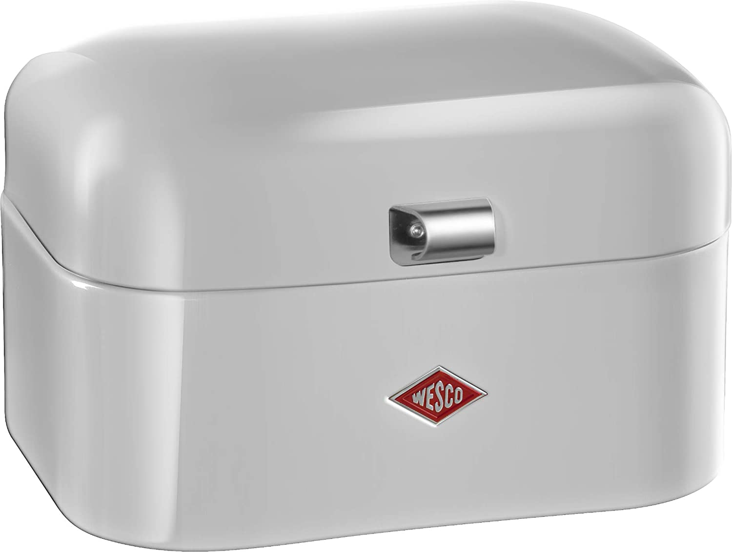 Wesco Single Grandy – German Designed-Steel Bread Box for Kitchen Storage Container, Cool Grey, 21.50x28.0x17.0 cm