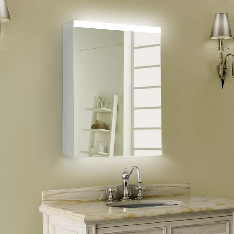 ExBrite LED Lighted Now on sale Bathroom Mirror A Cabinet Medicine Flexible Las Vegas Mall