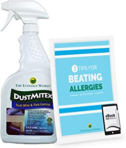 The Ecology Works DustmiteX Spray (32oz) - Eliminate Dust Mites, Fleas & Reduce Allergies, Gentle Hypoallergenic Formula for Fabric, Furniture, Pet Bedding & More