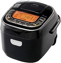 アイリスオーヤマ 炊飯器 3合 マイコン式 31銘柄炊き分け機能 極厚火釜 玄米 ブラック RC-MC30-B
