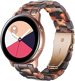 Junboer Compatible with Galaxy Watch 42mm/Gear S2 Classic Watchband, 20mm Quick Release Resin Watch Strap Band Stainless Steel Buckle Strap Wrist Braceletfor Gear Sport,Garmin Vivoactive 3