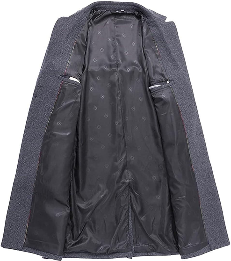 Men Winter Coats Bussiness Wool Overcoat Elegant Winter Coat Slim Jaket Soft Hombre Largo Overcoats