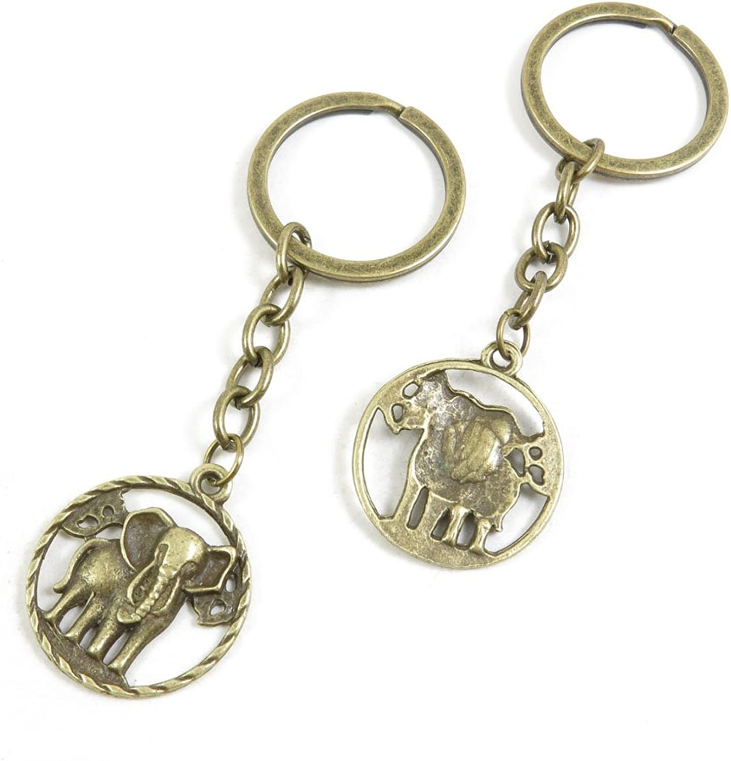 180 Pieces Fashion Jewelry Keyring Keychain Door Car Key Tag Ring Chain Supplier Supply Wholesale Bulk Lots W3HX9 Elephant Tag Signs