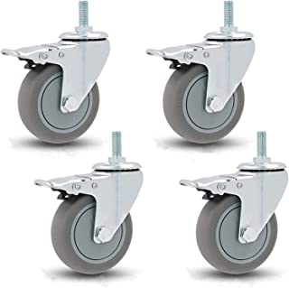 Draaibare stuurpen zwenkwielen Heavy Duty meubels vervanging wielen trolley wielen, 360 graden draaibare wiel schroefdraad...