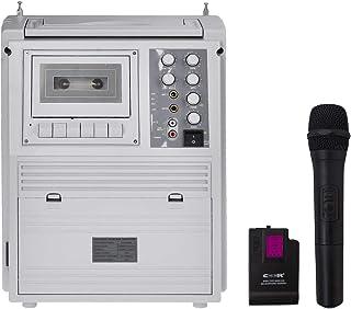 ワイヤレスマイクセット 大音量75W 多機能 アンプ内蔵スピーカー 充電式 録音再生△_73051